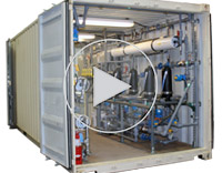 Screen shot from a video about CTC's  Edison-Award-winning SYLAS-R2 system for laundry and shower recycle/reuse