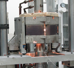 Mechanical test system 55 kip load capacity, -450°F to 2300°F